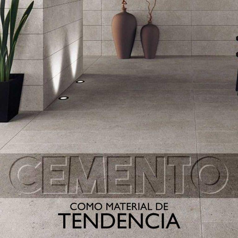 El cemento como material de tendencia